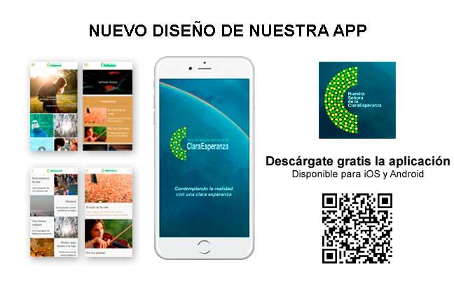 Nuevo diseño de la App Hoja Claraesperanza